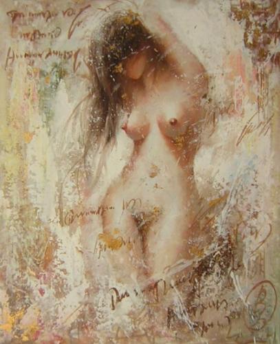 obrazy ručně malované - obraz Akty - Nahá dívka, obrazy do bytu