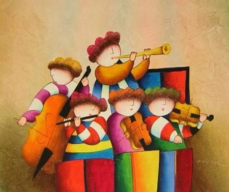 obraz Symfonický orchestr