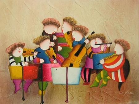 obraz Dětská kapela