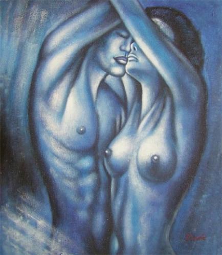 obraz Objímající se pár