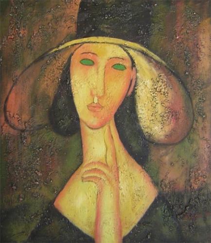 obraz Zamyšlená žena