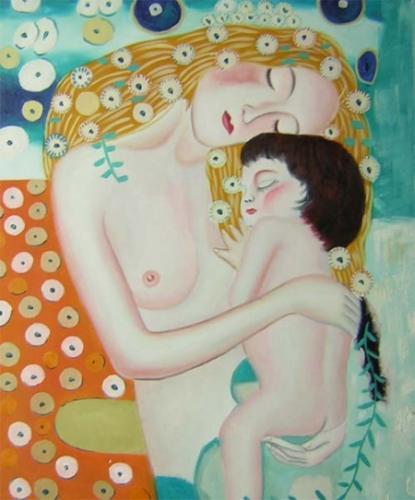 obraz Žena objímající dítě