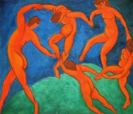 obraz Tančící nazí lidé