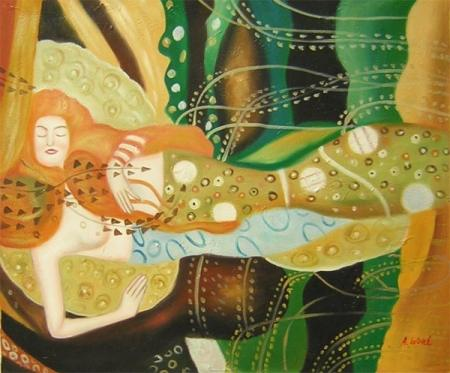 obraz Spící mořská panna