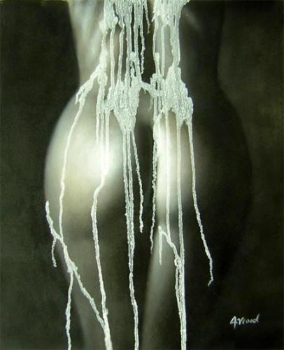 obrazy ručně malované - obraz Akty - Akt s vodou, obrazy do bytu