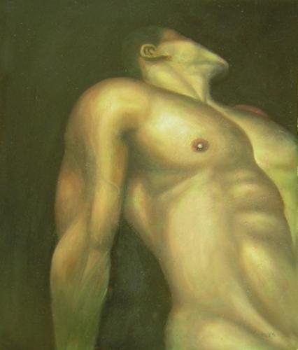 obrazy ručně malované - obraz Akty - Muž, obrazy do bytu