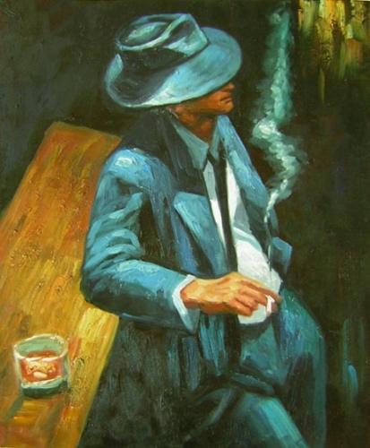 obraz Muž u baru