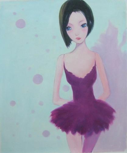 obraz Baletka ve fialovém