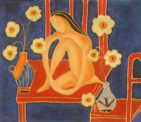 obraz Žena v květech