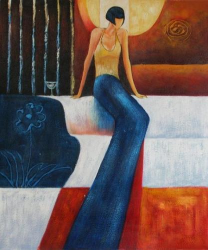 obraz Žena s dlouhýma nohama