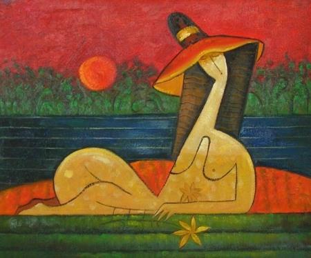 obraz Žena v lázních