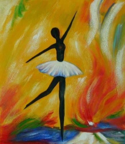 obraz Černá baletka