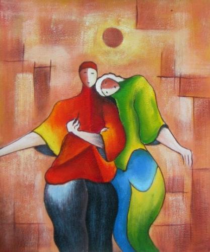 obraz Spící na ramení