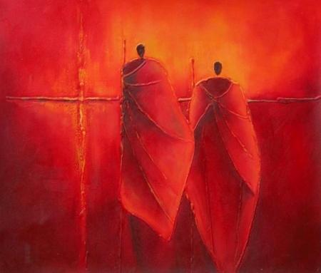 obraz Dva mniši