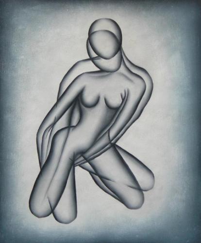 obraz Žena v elipsách