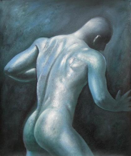 obraz Nahý muž ze zadu