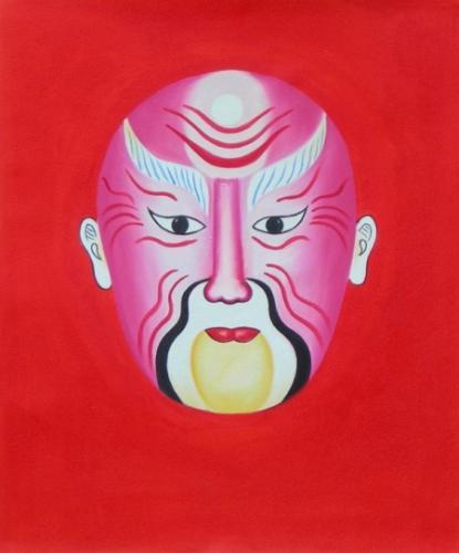 obraz Růžová maska