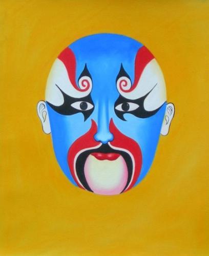 obraz Modrá maska