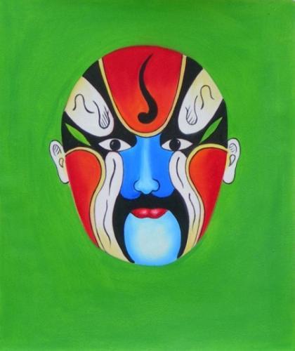 obraz Červená maska