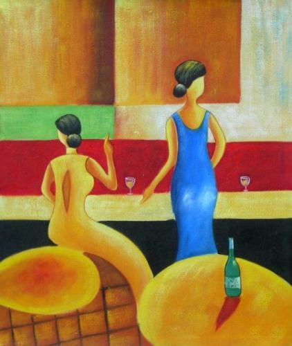 obraz Dámy u baru