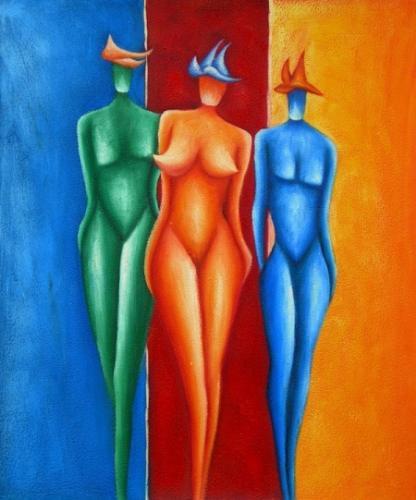 obraz Tři barevné ženy