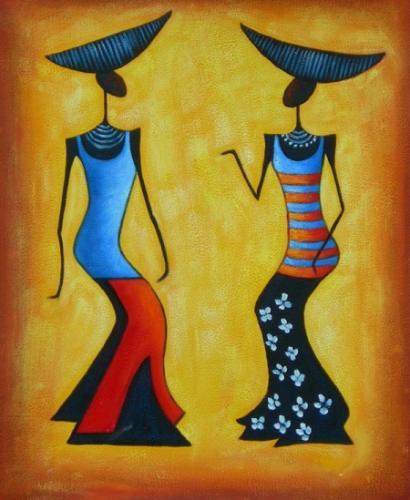 obraz Dvě tančící ženy
