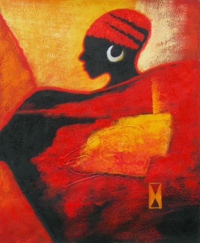 obraz Červená žena