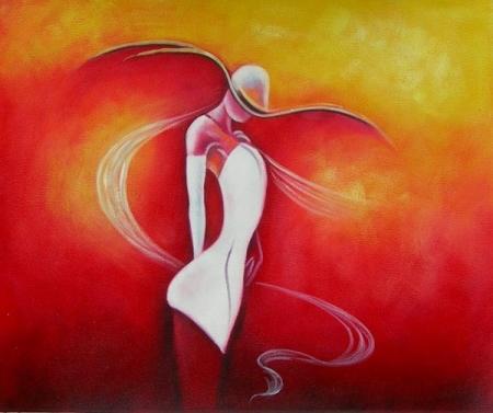obraz Žena v bílých šatech