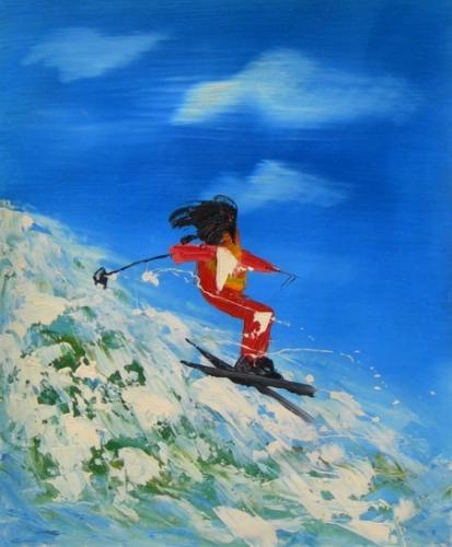 obraz Horský lyžař