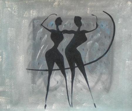 obraz Tanečníci se stuhou