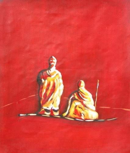obraz Mniši v modlidbě