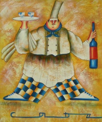 obraz Kuchař při těle