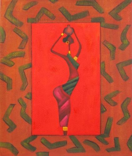 obraz Žena v červeném