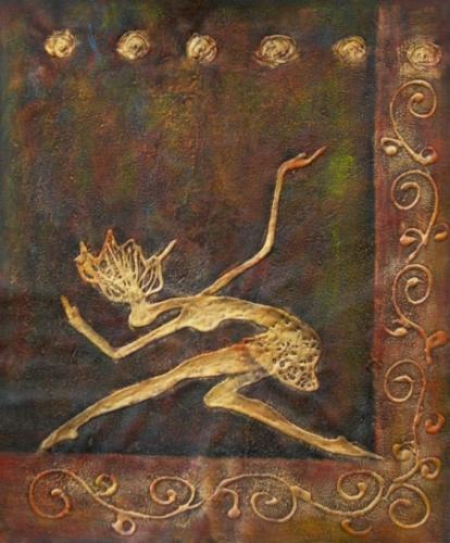 obraz Plížící se žena