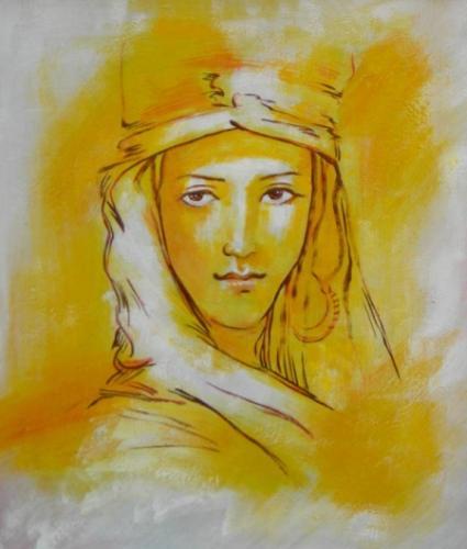 obraz Žlutá žena