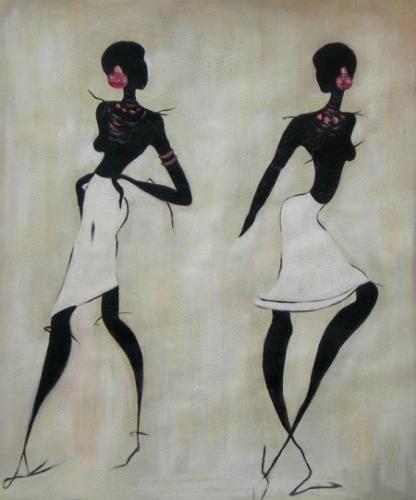 obraz Dvě tmavé ženy