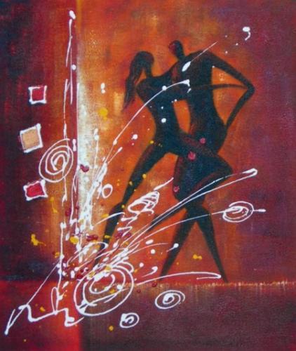 obraz Ohňostroj tance