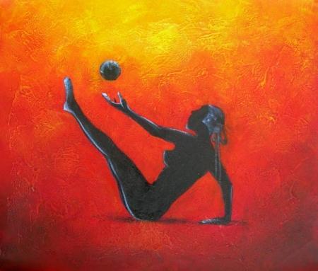 obraz Cvičení s míčem
