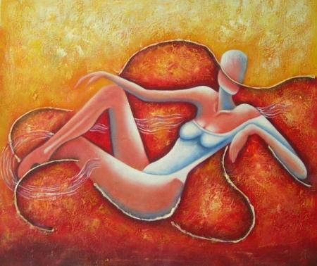 obraz Pózující žena