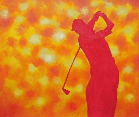 obraz Obrys golfisty