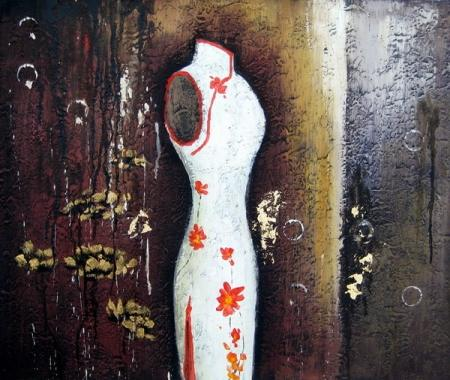 obraz Bílé šaty na figuríně