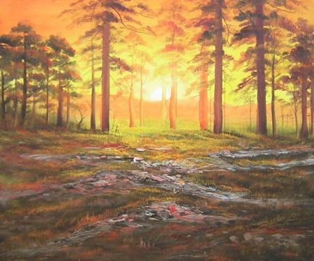 obrazy ručně malované - obraz Krajiny - , obrazy do bytu