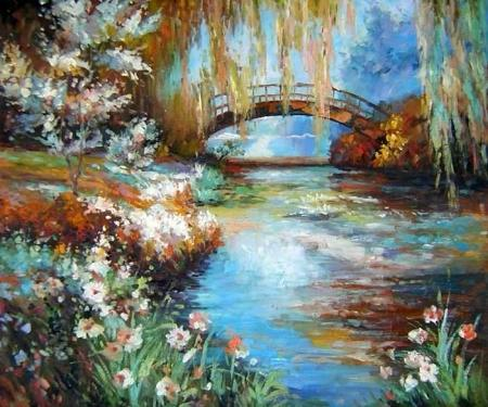obrazy ručně malované - obraz Krajiny - Most, obrazy do bytu