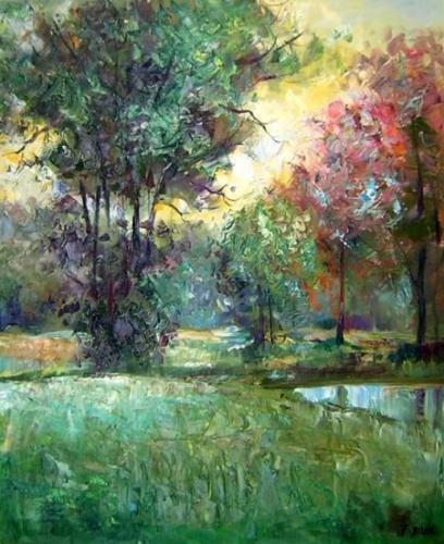 obrazy ručně malované - obraz Krajiny - Les, obrazy do bytu