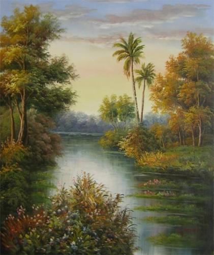 obraz Zátoka s palmou