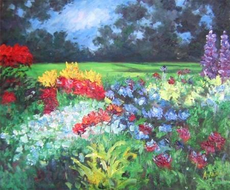 obrazy ručně malované - obraz Krajiny - Květinové zátiší, obrazy do bytu