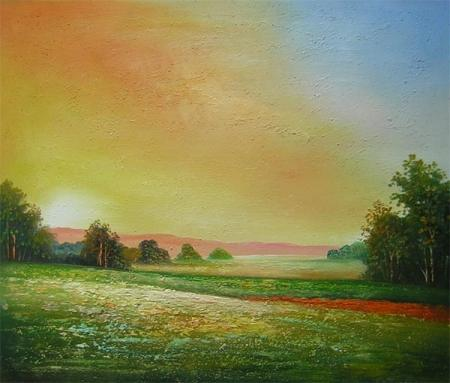 obraz Samota v západu slunce