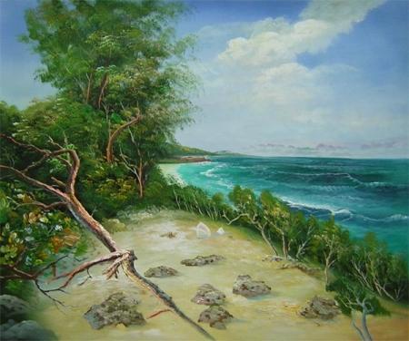 obraz Pláž po vichřici