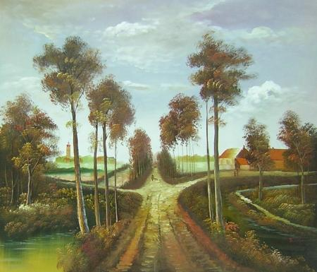 obraz Cesta k hradu