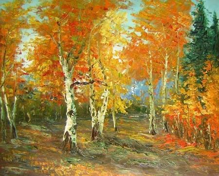 obraz Javorový les